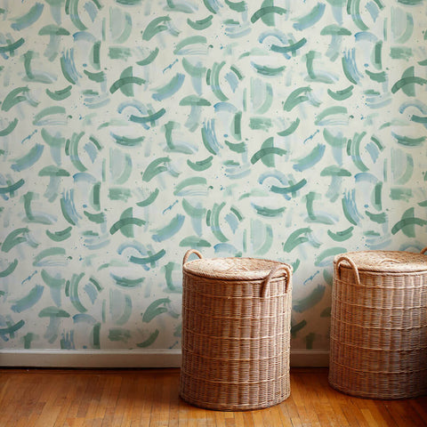 Dreamscape Wallpaper in Jewel Green