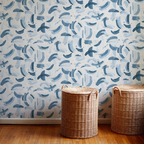 Dreamscape Wallpaper in Ocean Blue