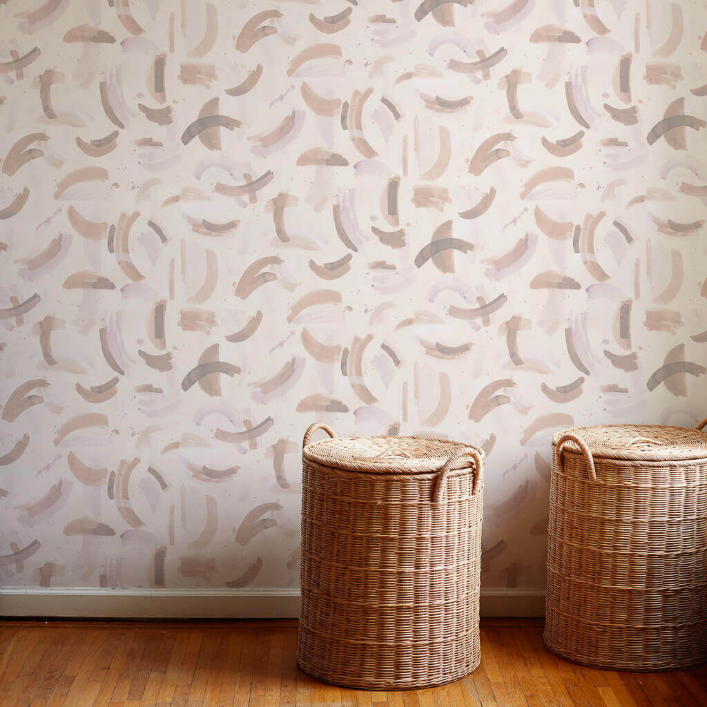 Dreamscape Wallpaper in Taupe Rose