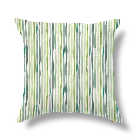 "Wavy Grass Outdoor Pillow Cover in Leafy Green 20""x20"" - Pre-Order"