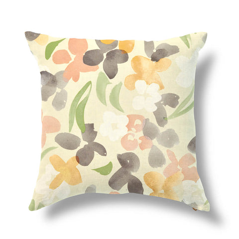 "Perennial Blooms Outdoor Pillow Cover in Multi Goldenrod 20""x20"" - Pre-Order"