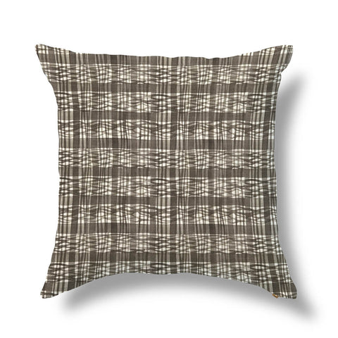 "Thatched Outdoor Pillow Cover in Inkwash 20""x20"" - Pre-Order"