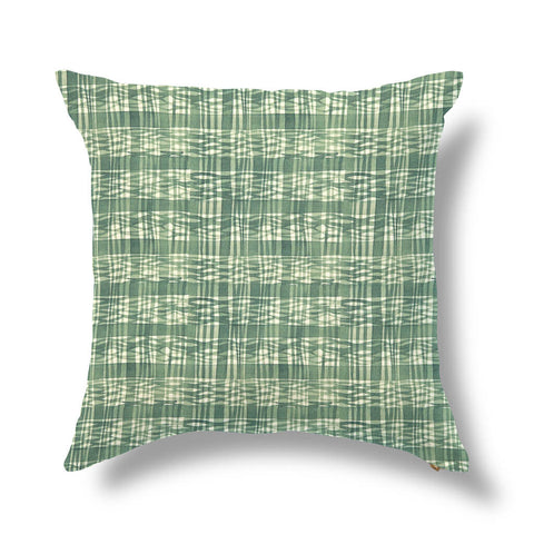 "Thatched Outdoor Pillow Cover in Leafy Green 20""x20"" - Pre-Order"