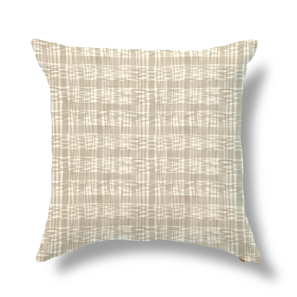 "Thatched Outdoor Pillow Cover in Sand 20""x20"" - Pre-Order"
