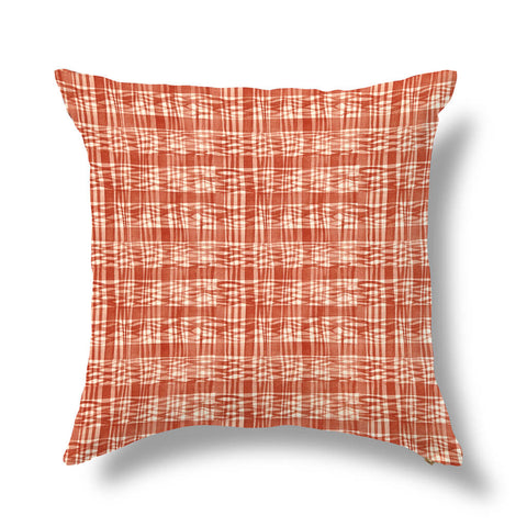 "Thatched Outdoor Pillow Cover in Tomato 20""x20"" - Pre-Order"