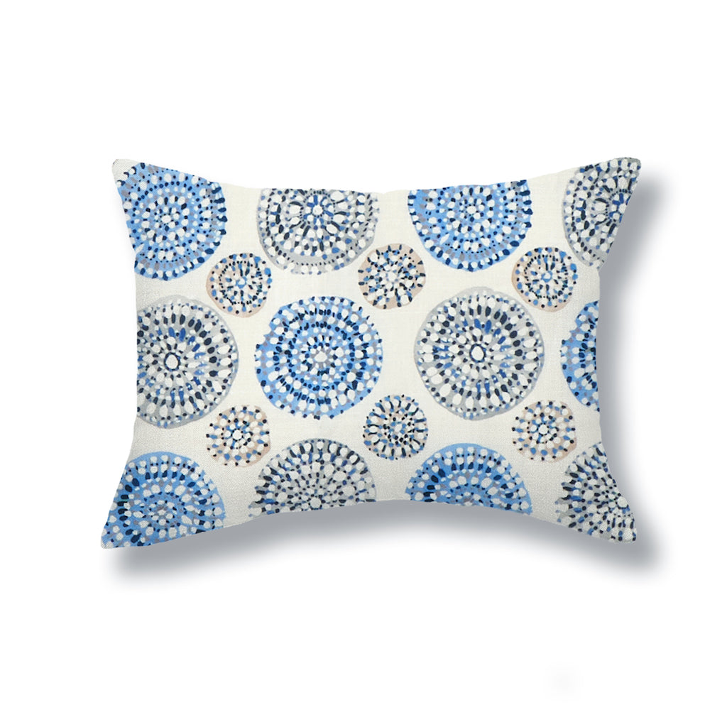 Sundial Pillows in Blue / Gray