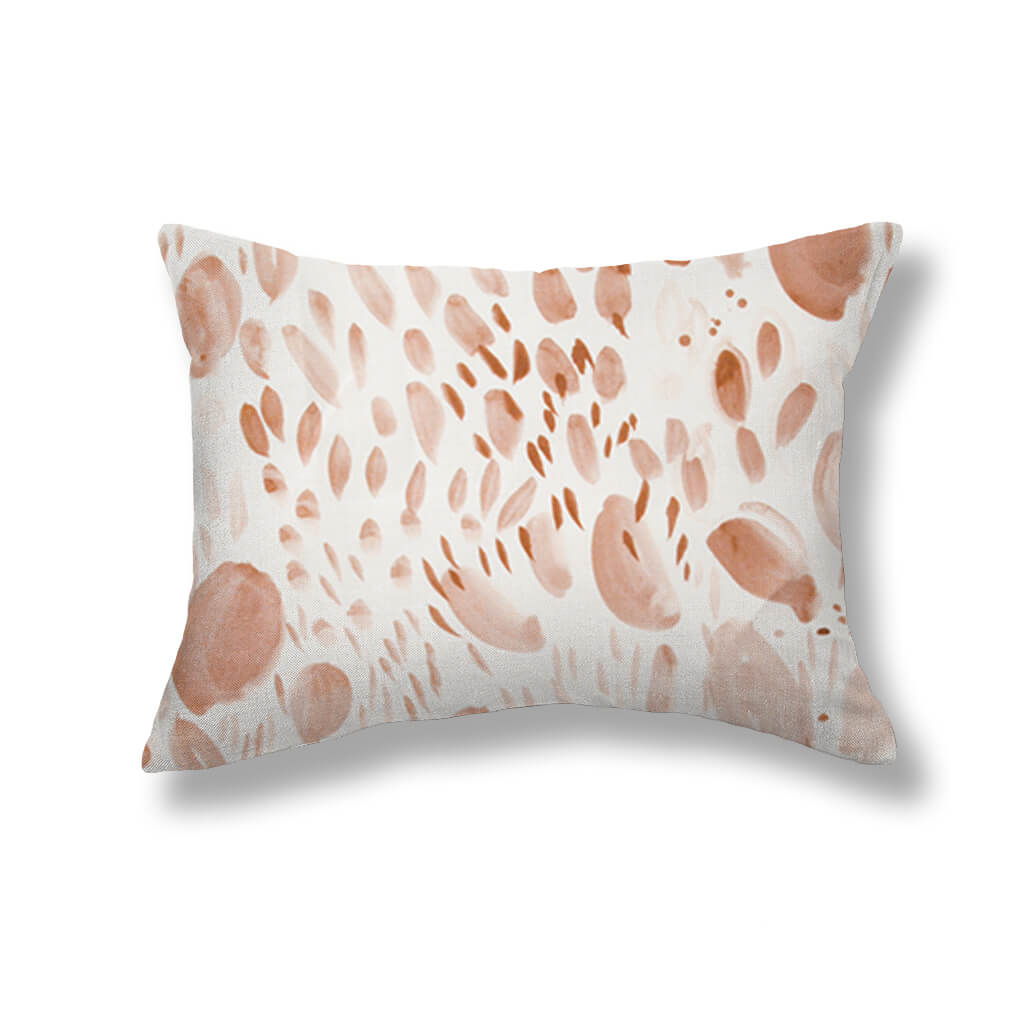 Blooms Pillows in Blushing Taupe