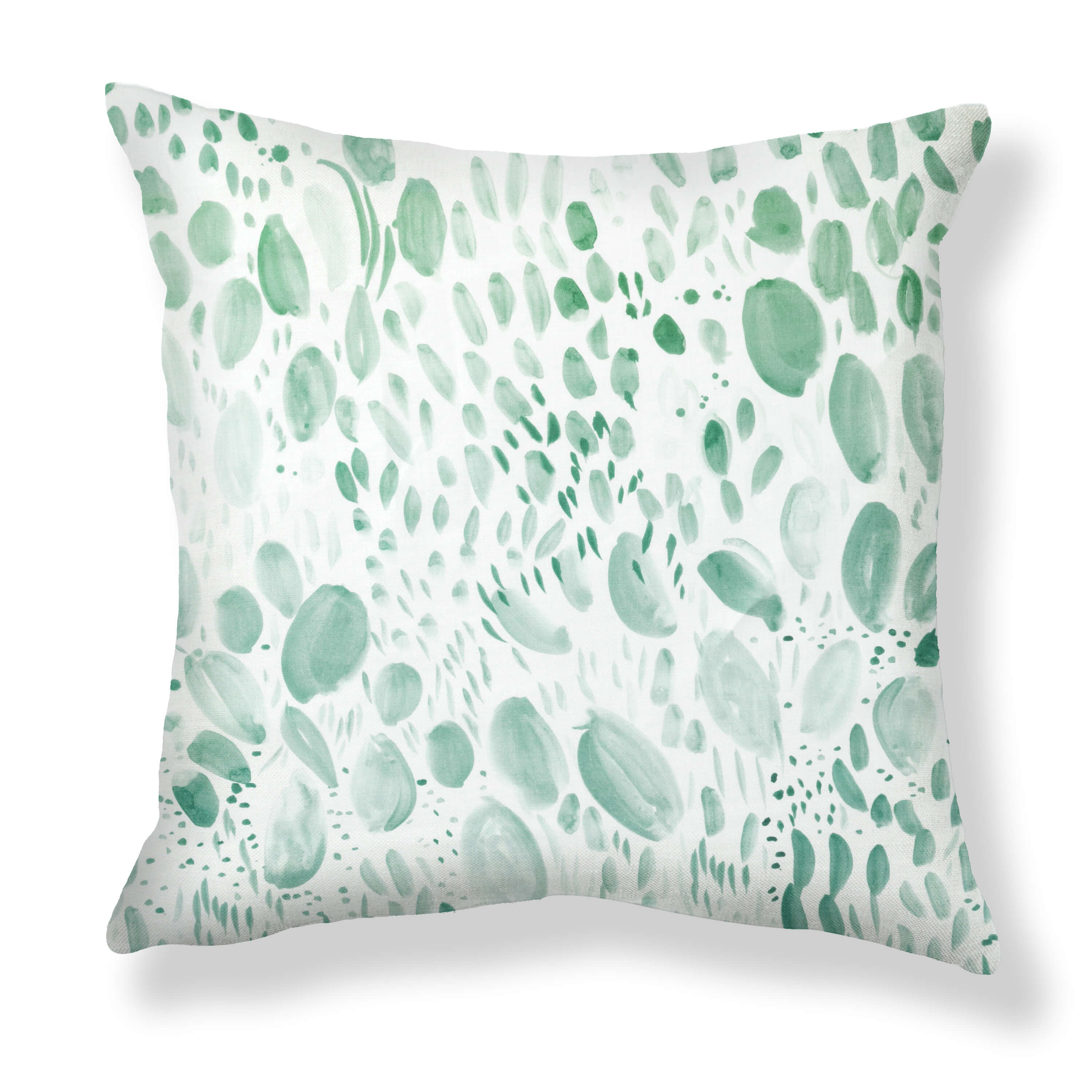 Blooms Pillows in Soft Green