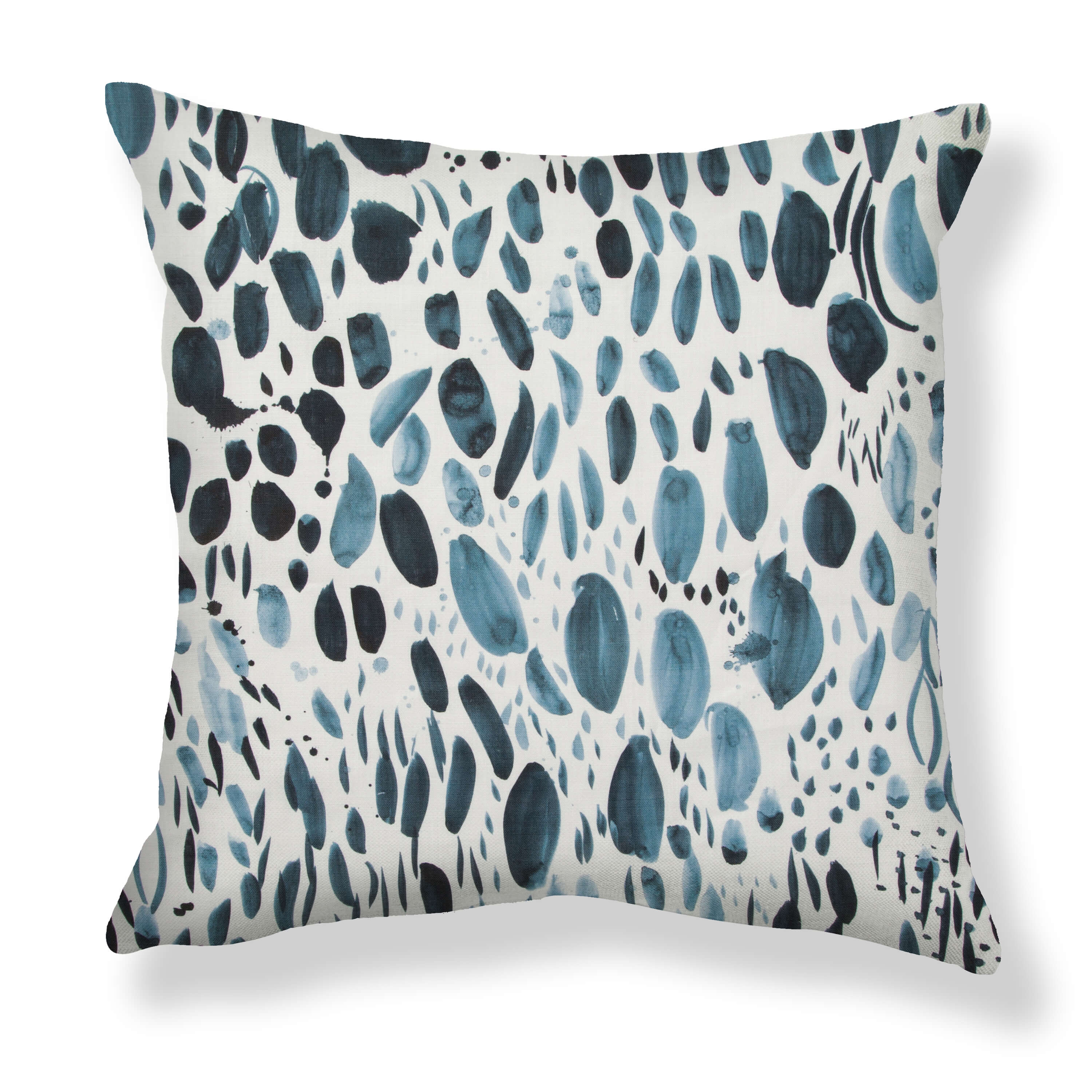 Blooms Pillows in Navy