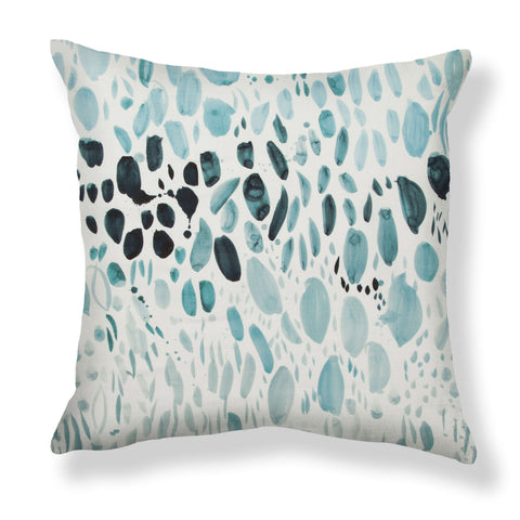 Blooms Pillows in Ocean Ombré