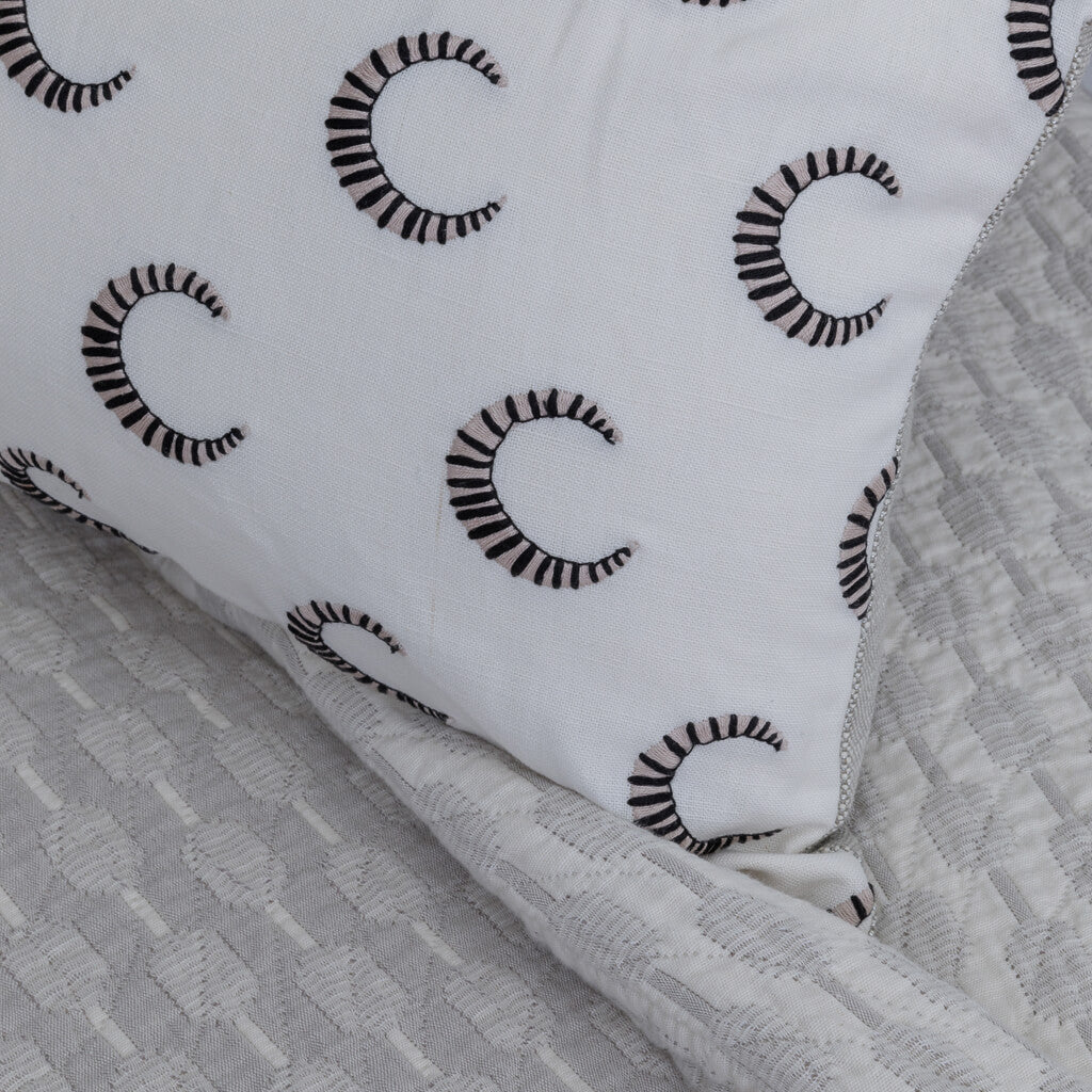 Striped Moon Pillow