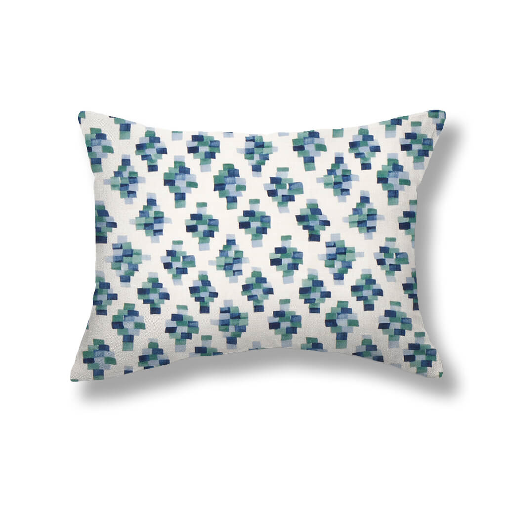 Bricks Pillows in Blue / Green