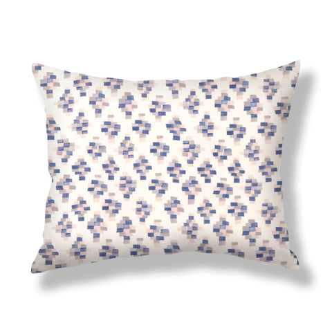 Bricks Pillows in Taupe / Blue