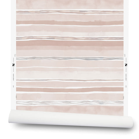 Dawn Stripe Wallpaper in Taupe