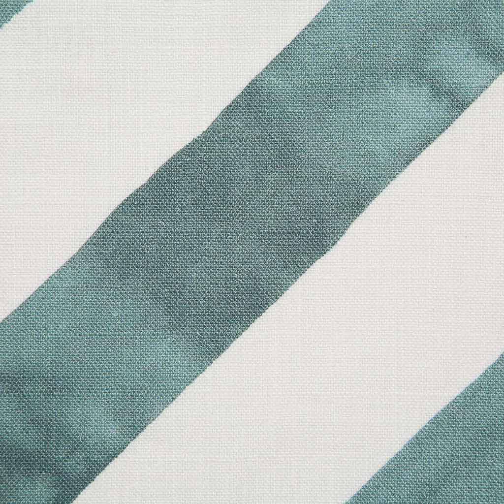 Diagonal Stripe Fabric in Lagoon