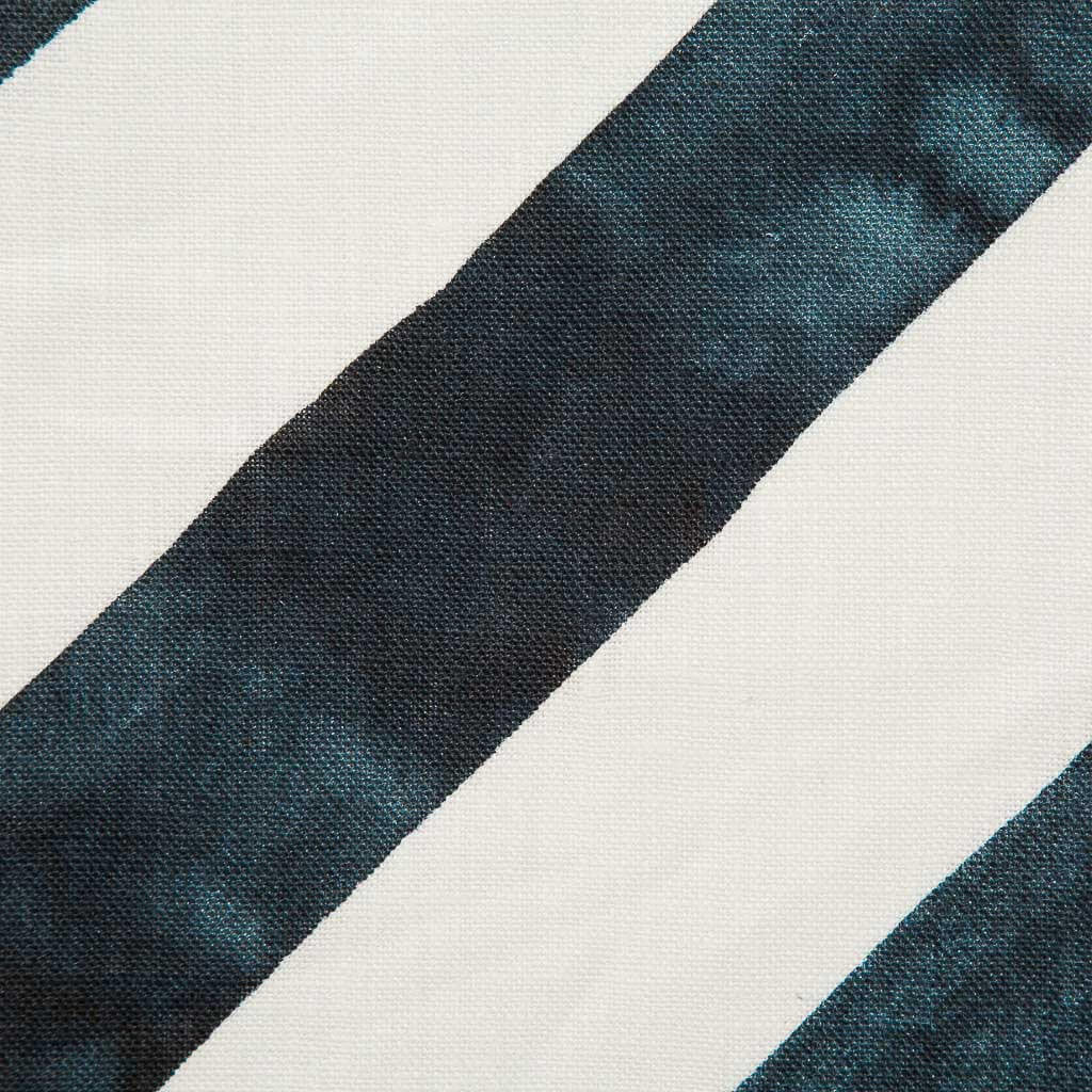 Diagonal Stripe Fabric in Navy