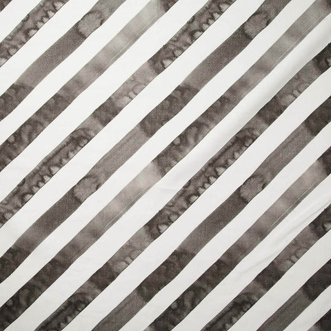Diagonal Stripe Fabric in Smoke