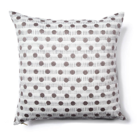 Dot Dash Pillow in Gray-taupe