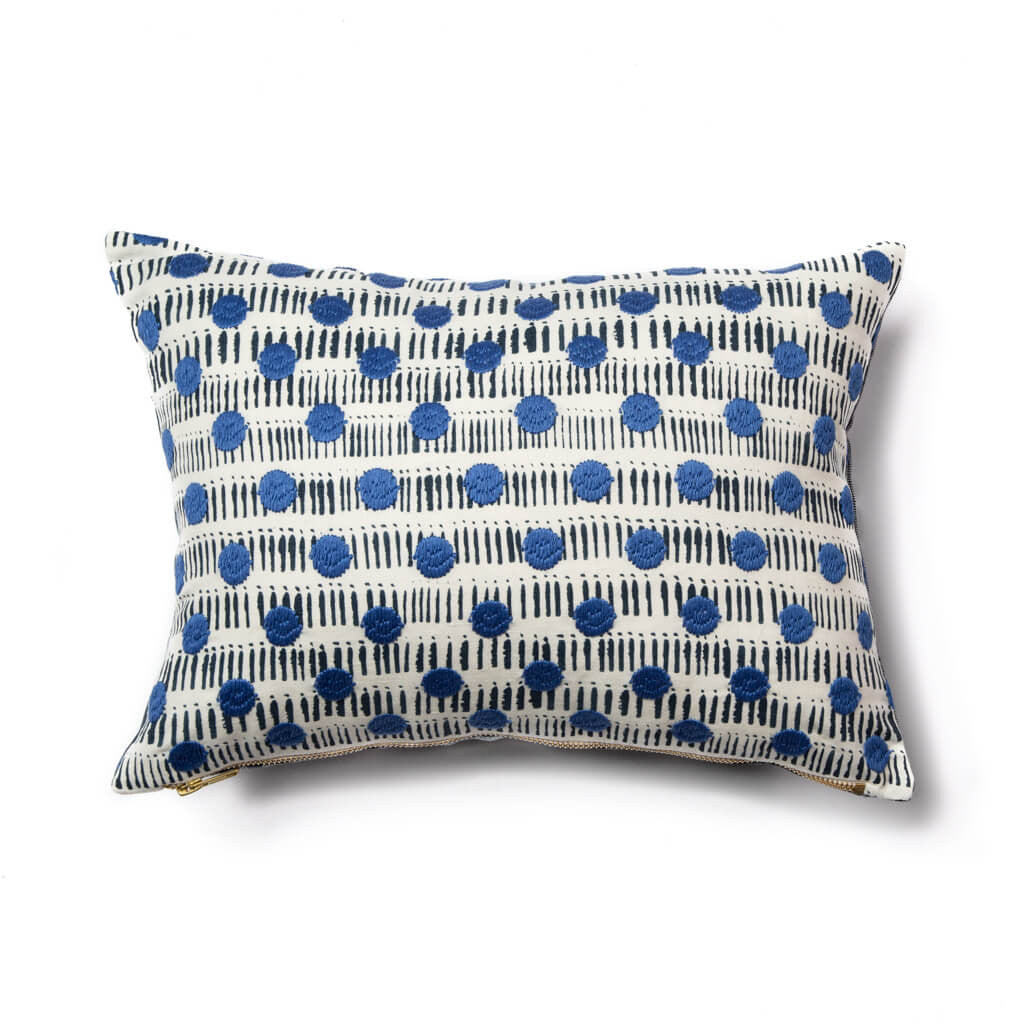 Dot Dash Pillow Cover in Navy/Blue