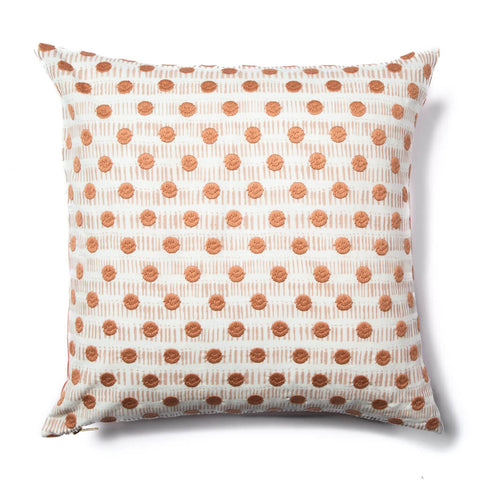 Dot Dash Pillow in Blush/Gray