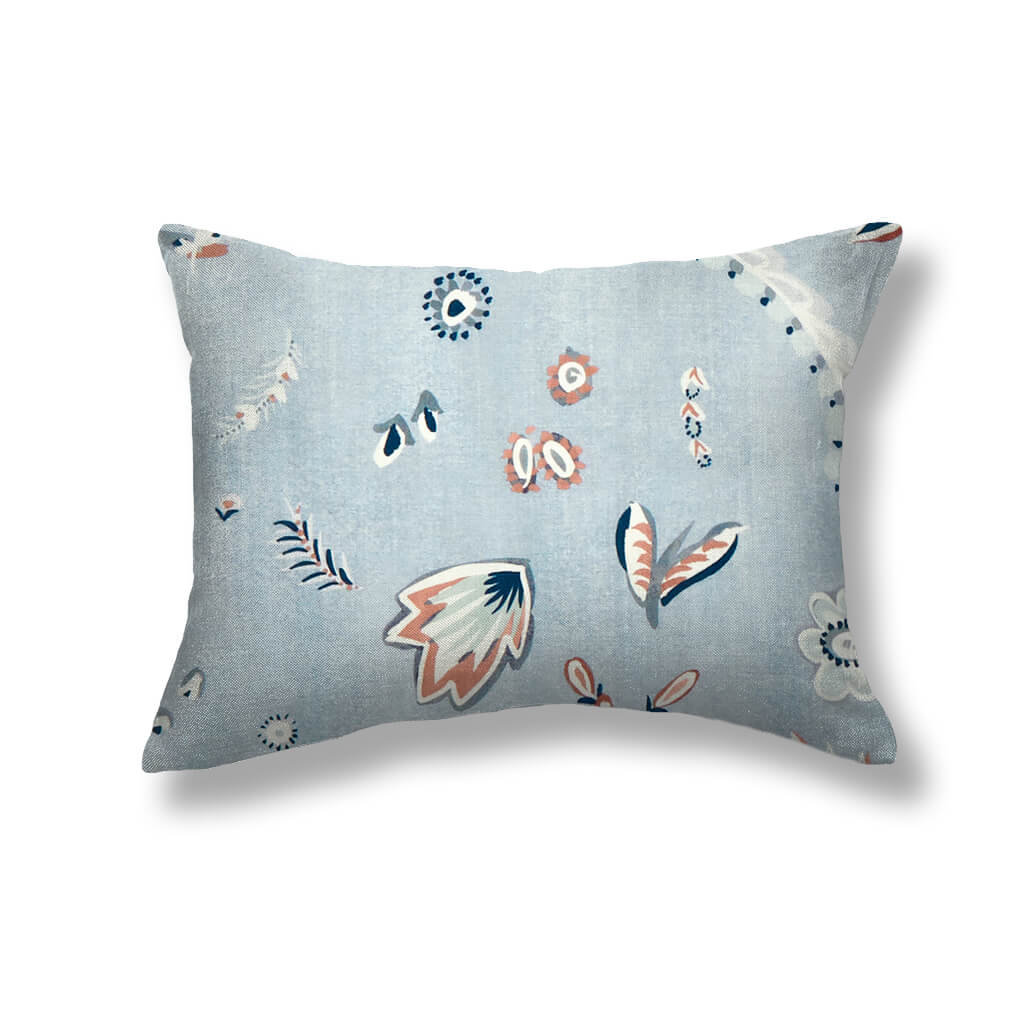 Flora Pillows in Blue-Slate