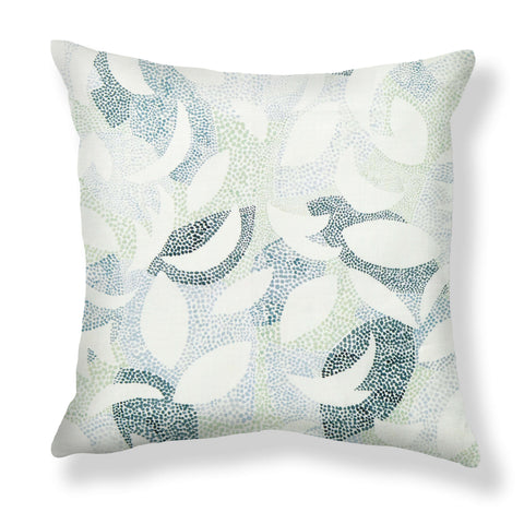 Dotted Leaves Pillows in Garden Green
