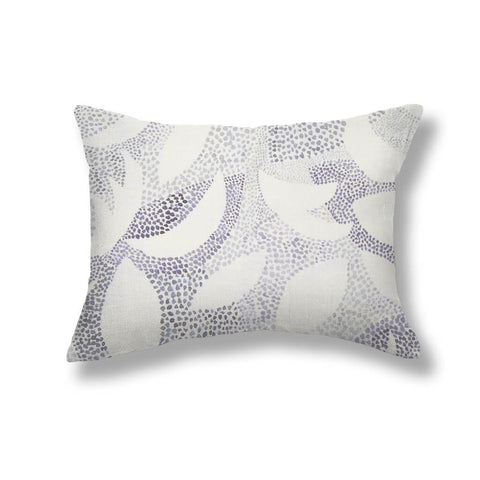 Dotted Leaves Pillows in Gray-Lilac