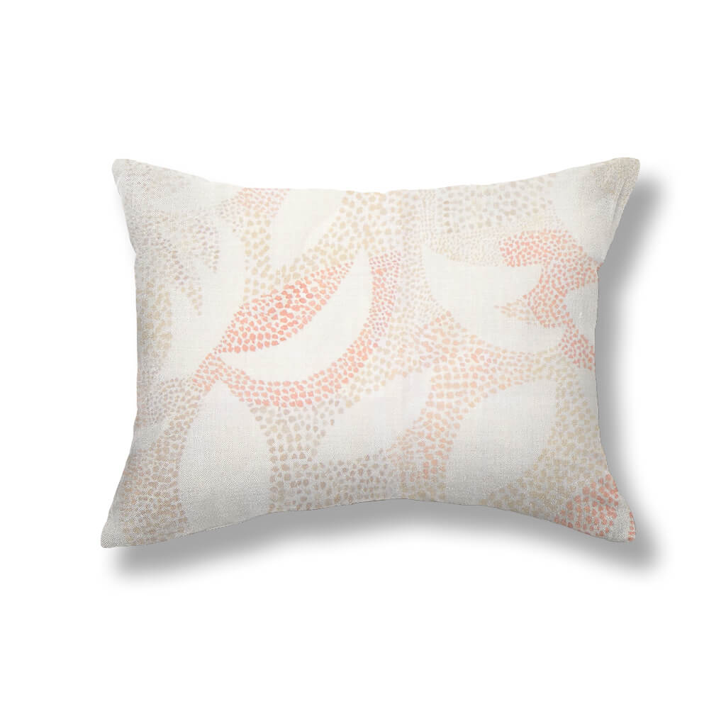 Dotted Leaves Pillows in Taupe