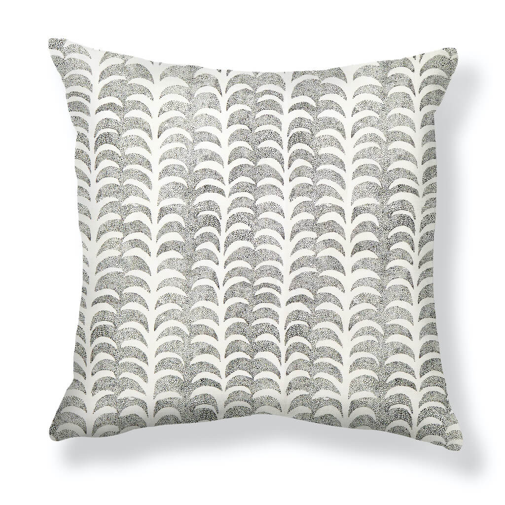 Dotted Palm Pillows in Black