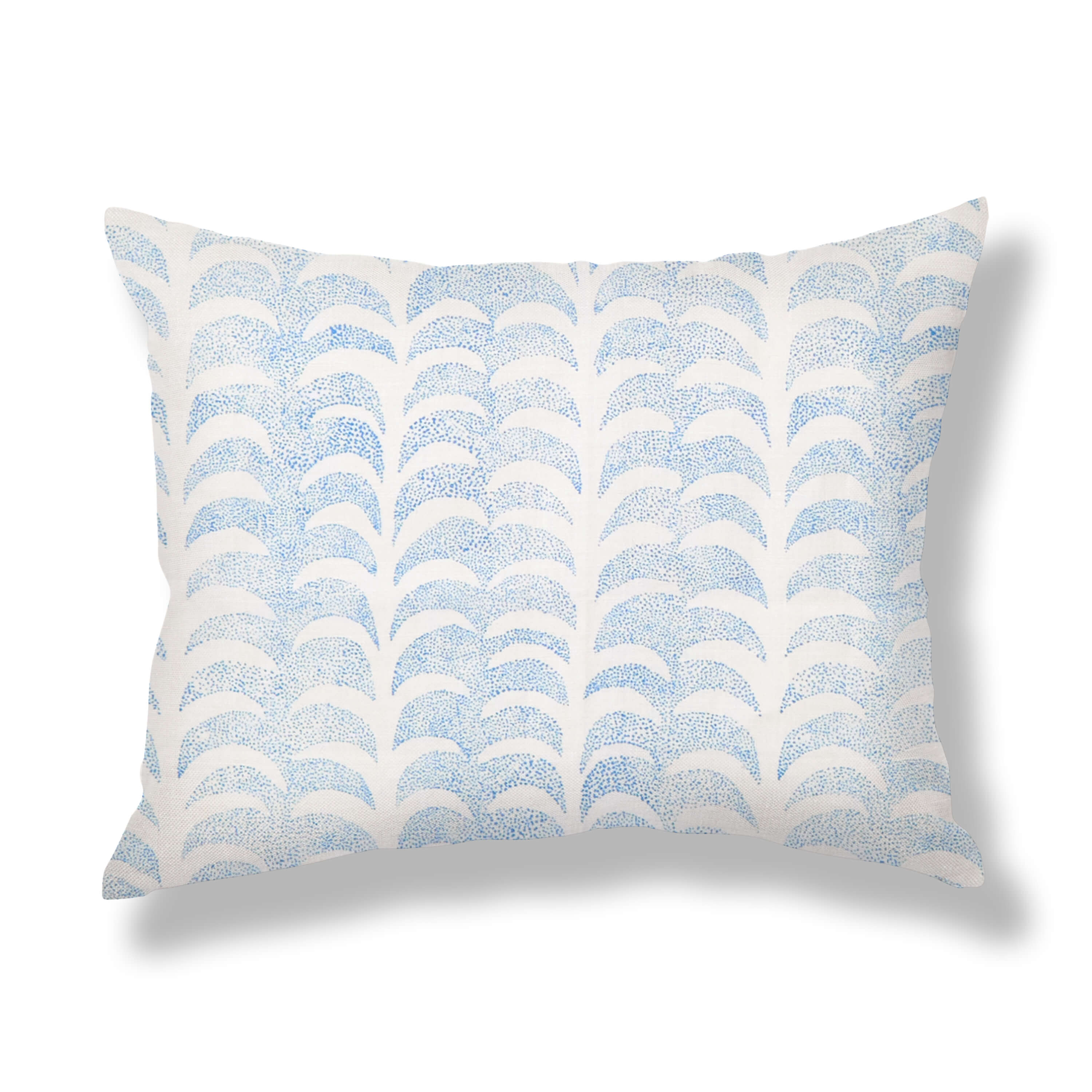 Dotted Palm Pillows in Blue
