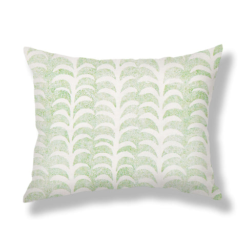 Dotted Palm Pillows in Leaf