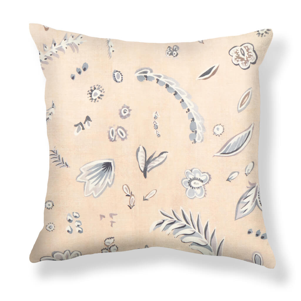 Flora Pillows in Taupe / Gray