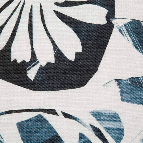 Floral Collage Fabric in Navy