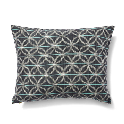 "Floral Ikat Pillow Cover in Charcoal Green 16""x20"""