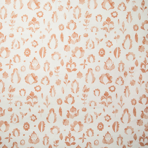 Floral Medallions I Fabric in Blush