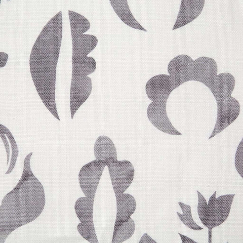 Floral Medallions I Fabric in Gray-lilac