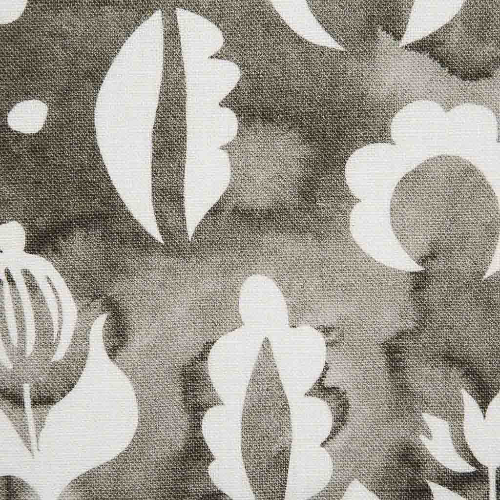 Floral Medallions II Fabric in Smoke