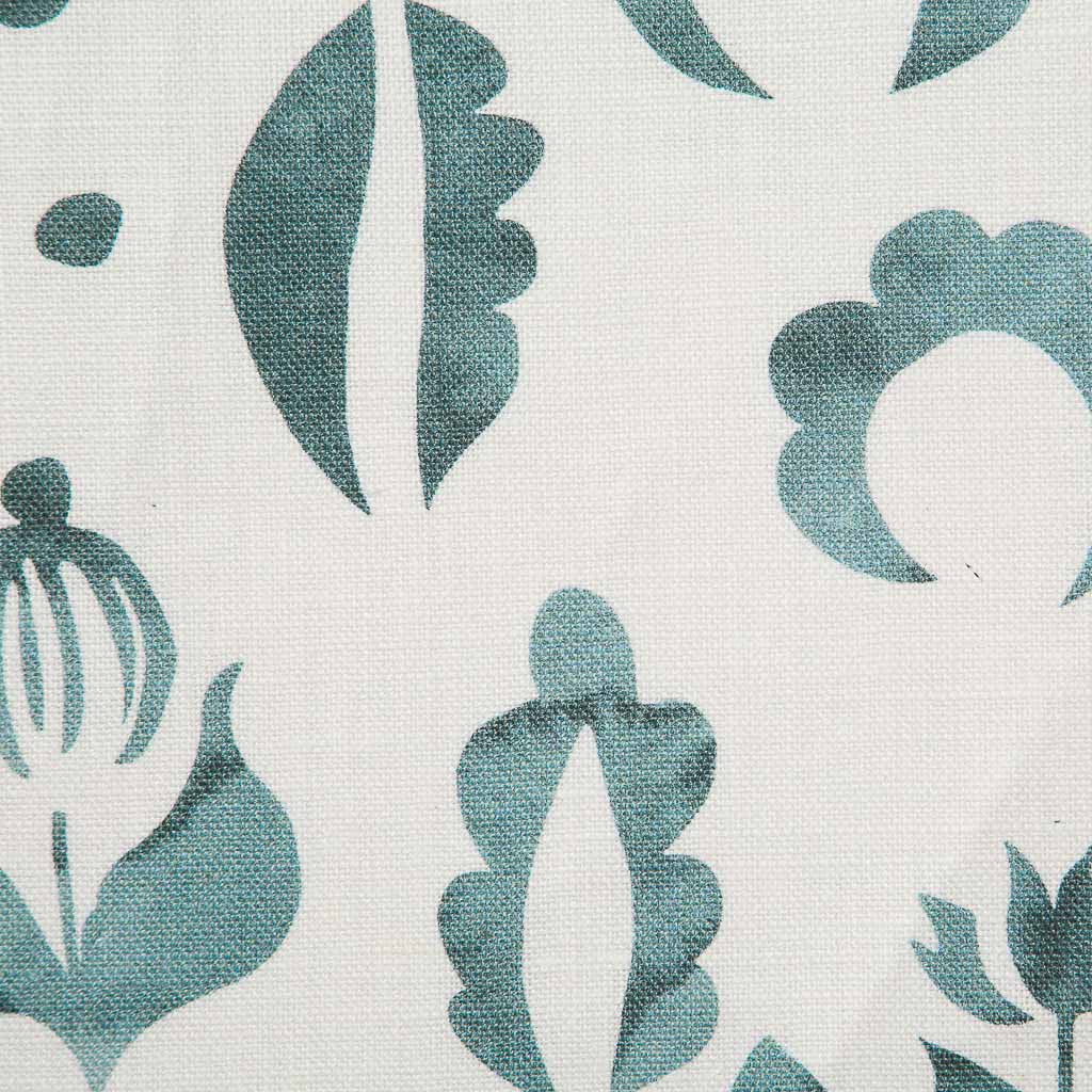 Floral Medallions I Fabric in Lagoon