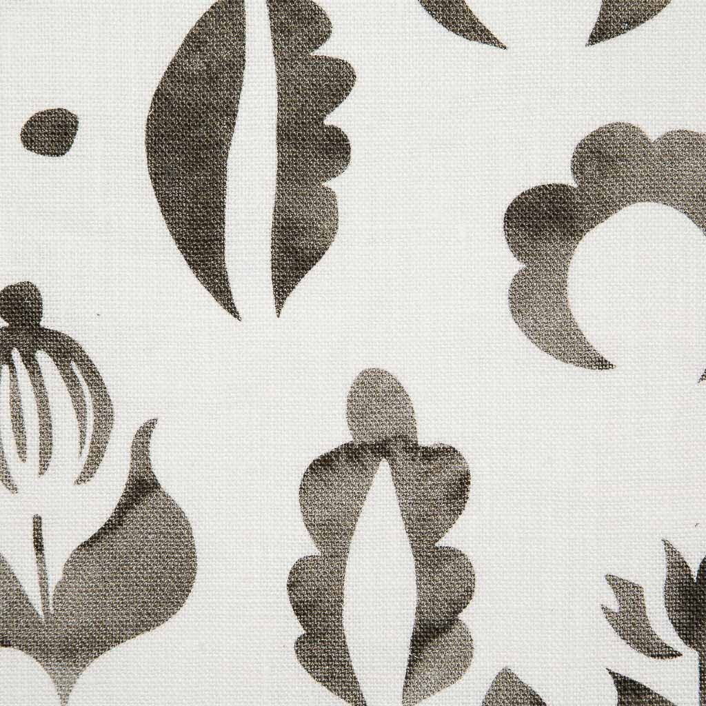 Floral Medallions I Fabric in Smoke