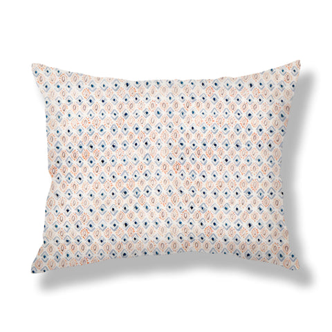 Gems Pillows in Blue / Peach
