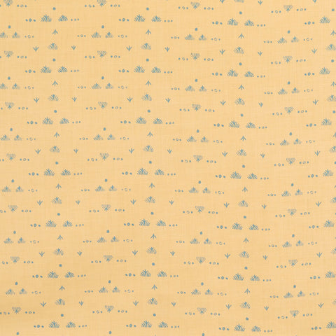 Grass Fabric in Butter/Blue