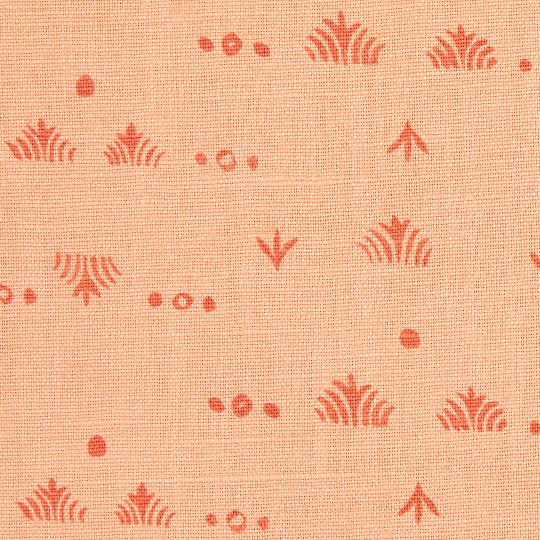 Grass Pillow in Peach/Tomato
