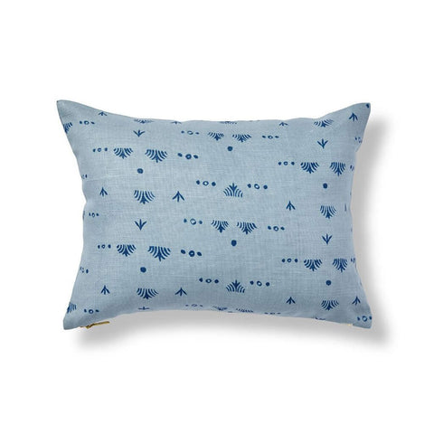 Grass Pillow in Ocean Blue