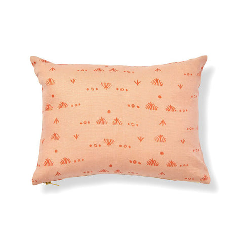 "Grass Pillow Cover in Peach/Tomato 12""x16"""