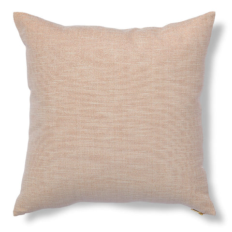 Gridded Ikat Pillow in Pale Blush
