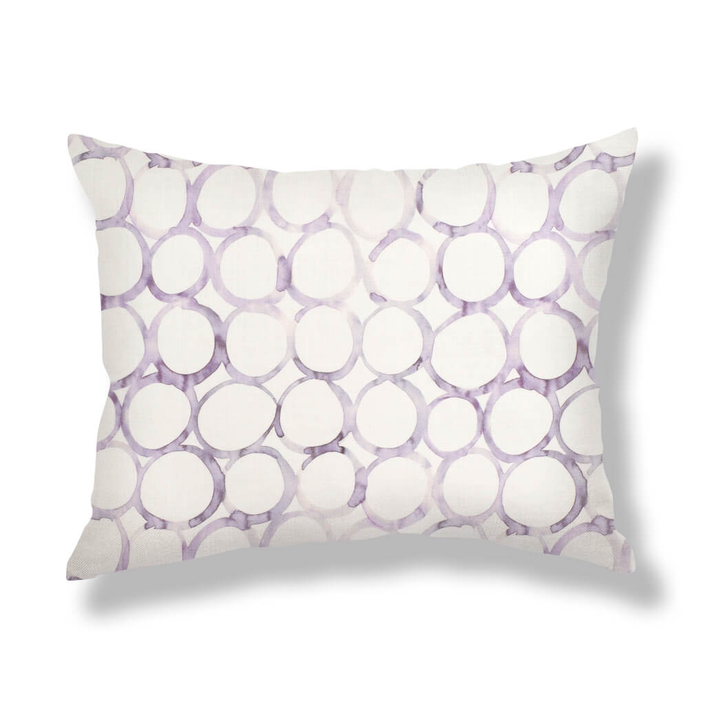 Interlocking Circles Pillows in Lilac