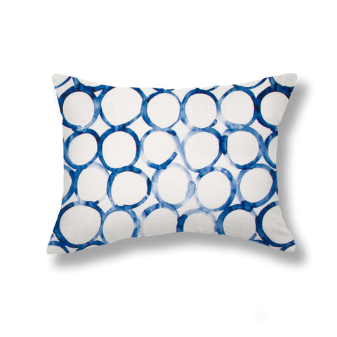 Interlocking Circles Pillows in Cobalt