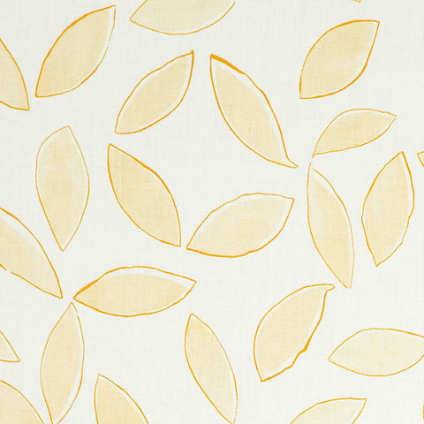 Leaves in Yellow & Ochre - 12-Yards
