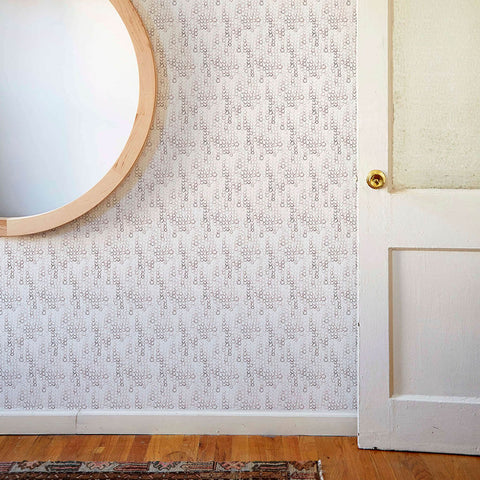 Looped Mini Circles Wallpaper in Taupe