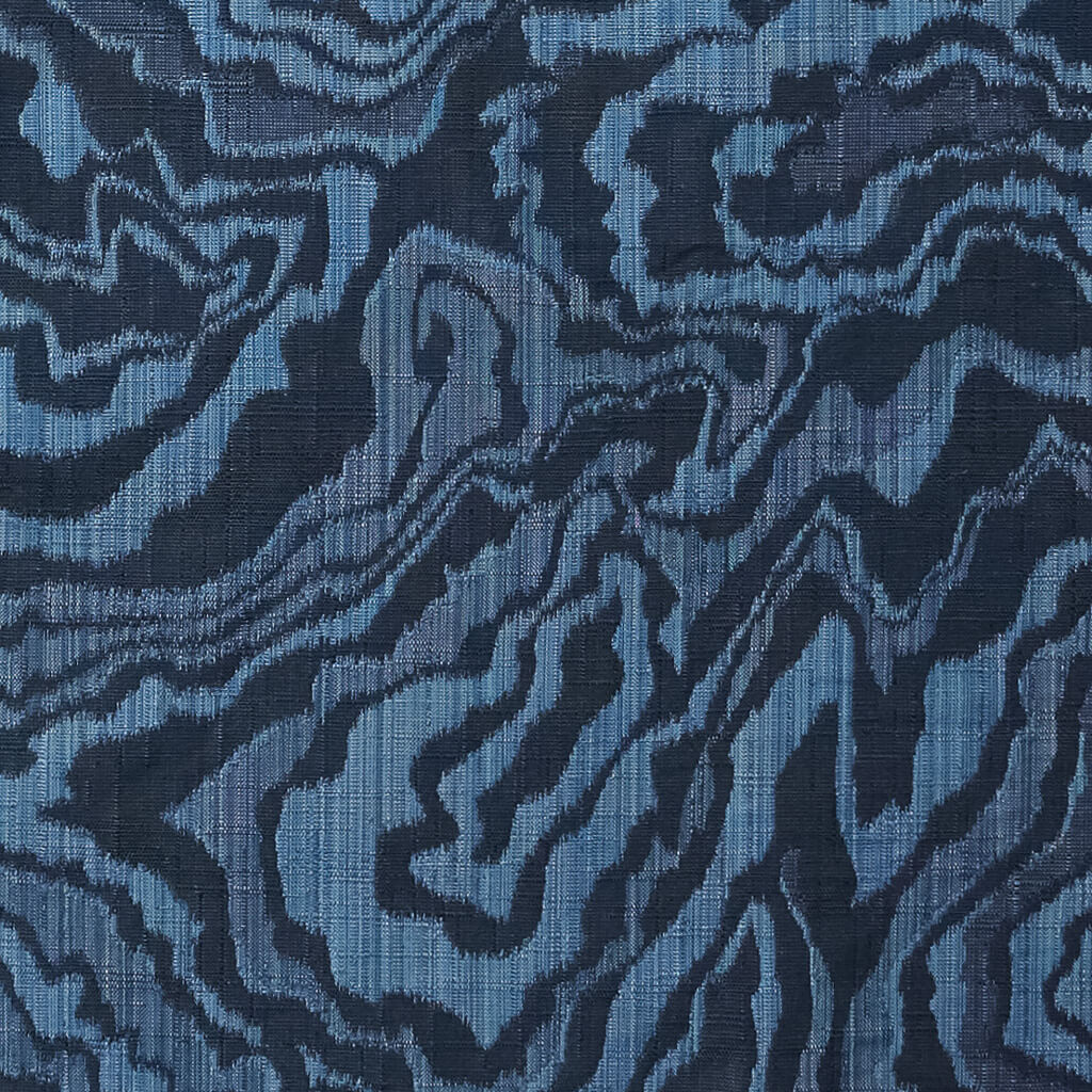 Marble Geode Fabric in Navy